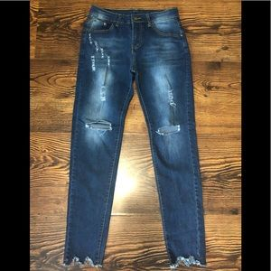 Distressed Skinny Jeans Sz.Small